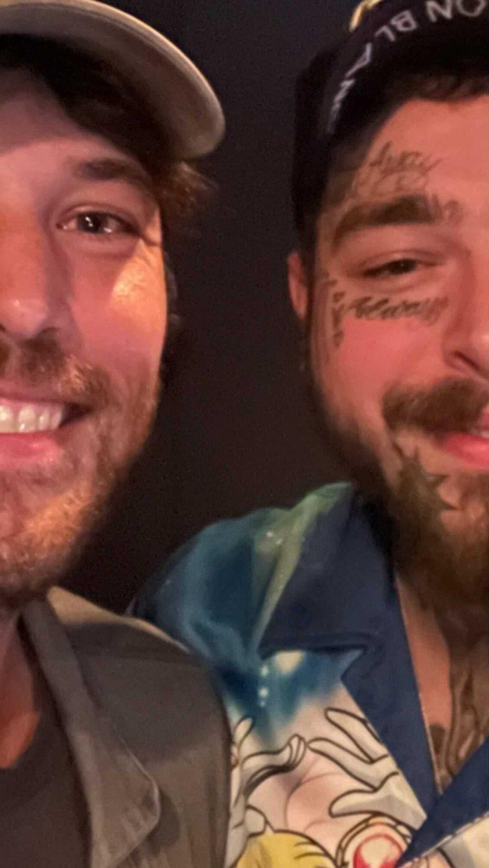Post Malone Fleet Foxes Robin Pecknold selfie studio Kanye West