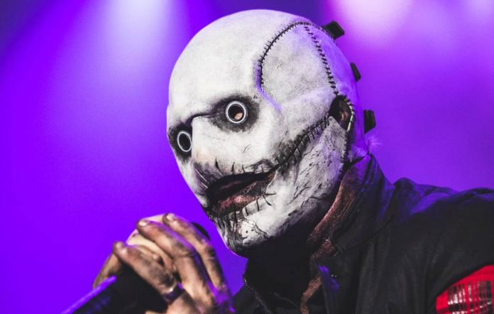 Slipknot's Corey Taylor debuts his new mask. Credit: Rocklahoma