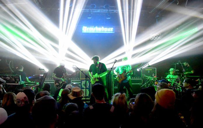 Twiddle perform at Los Angeles nightclub the Troubador. Credit: Jeff Kravitz/FilmMagic