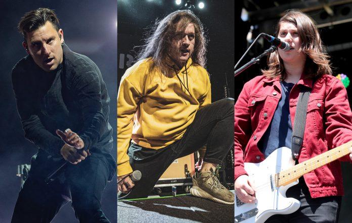 Winston McCall of Parkway Drive + Jamie Hails of Polaris + Alex Lahey. Credits- Katja Ogrin:Redferns + Nikolaj Bransholm + FilmMagic.jpg