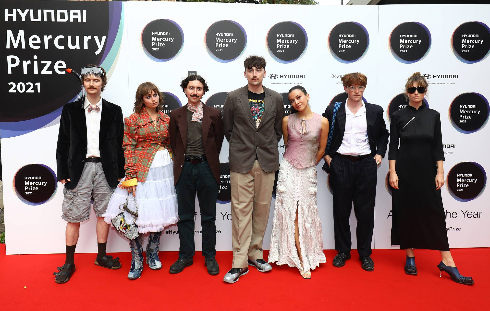 Black Country, New Road attend the Hyundai Mercury Music Prize 2021 at the Eventim Apollo, Hammersmith on September 09, 2021 in London, England. (Photo by JMEnternational/Getty Images)