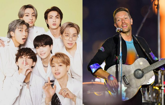 bts coldplay chris martin permission to dance youtube released interview