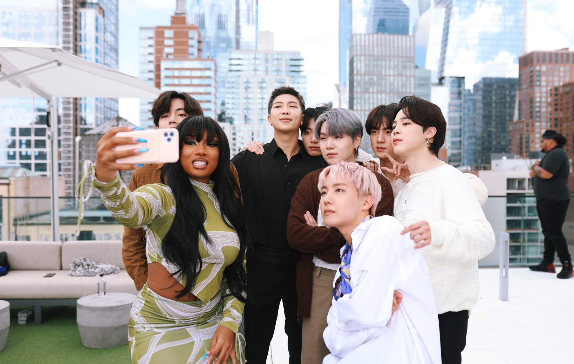 BTS meet up with Megan Thee Stallion in New York City