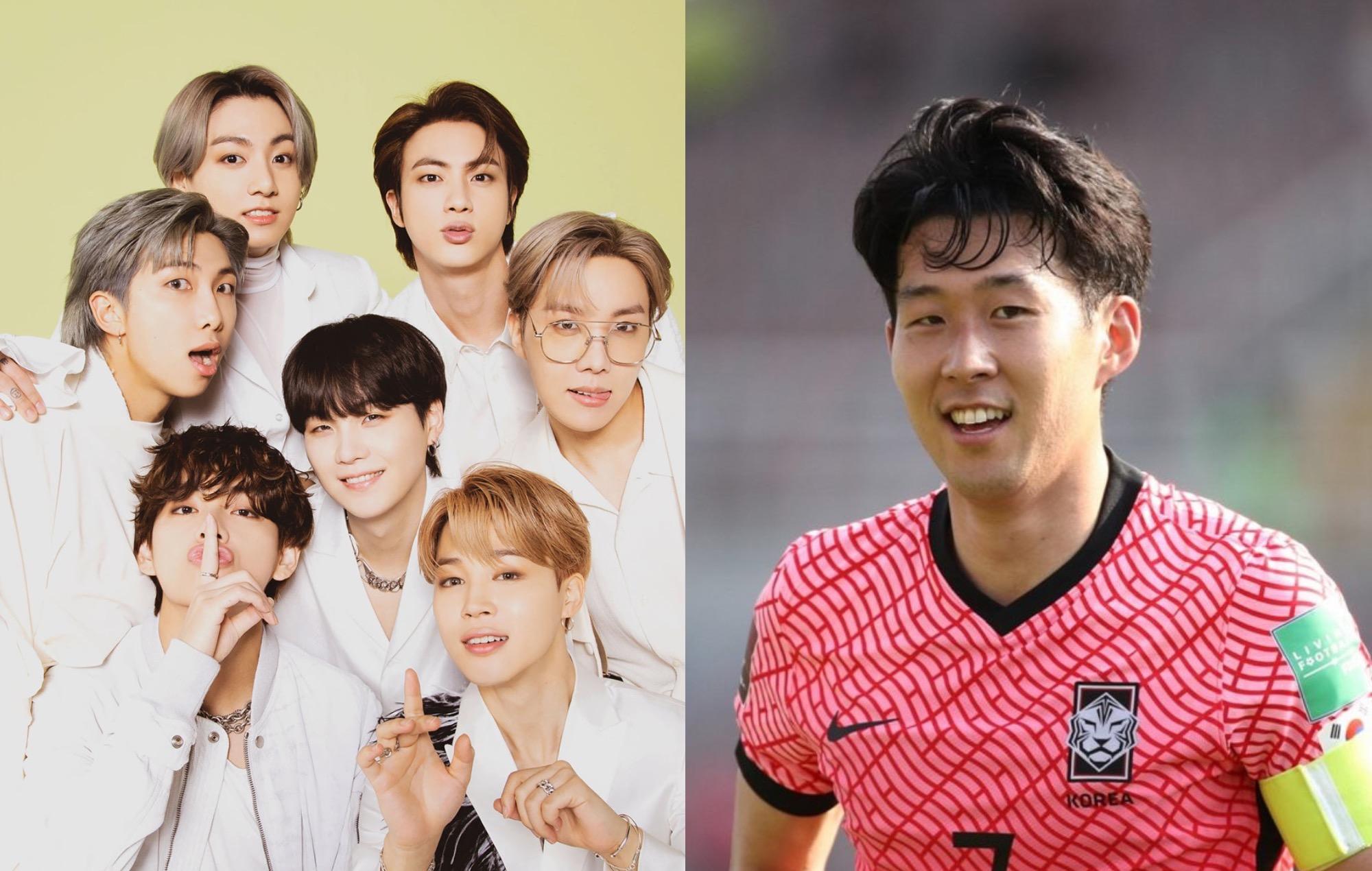 "Footballer Son Heung-min describes BTS as ""national heroes"""