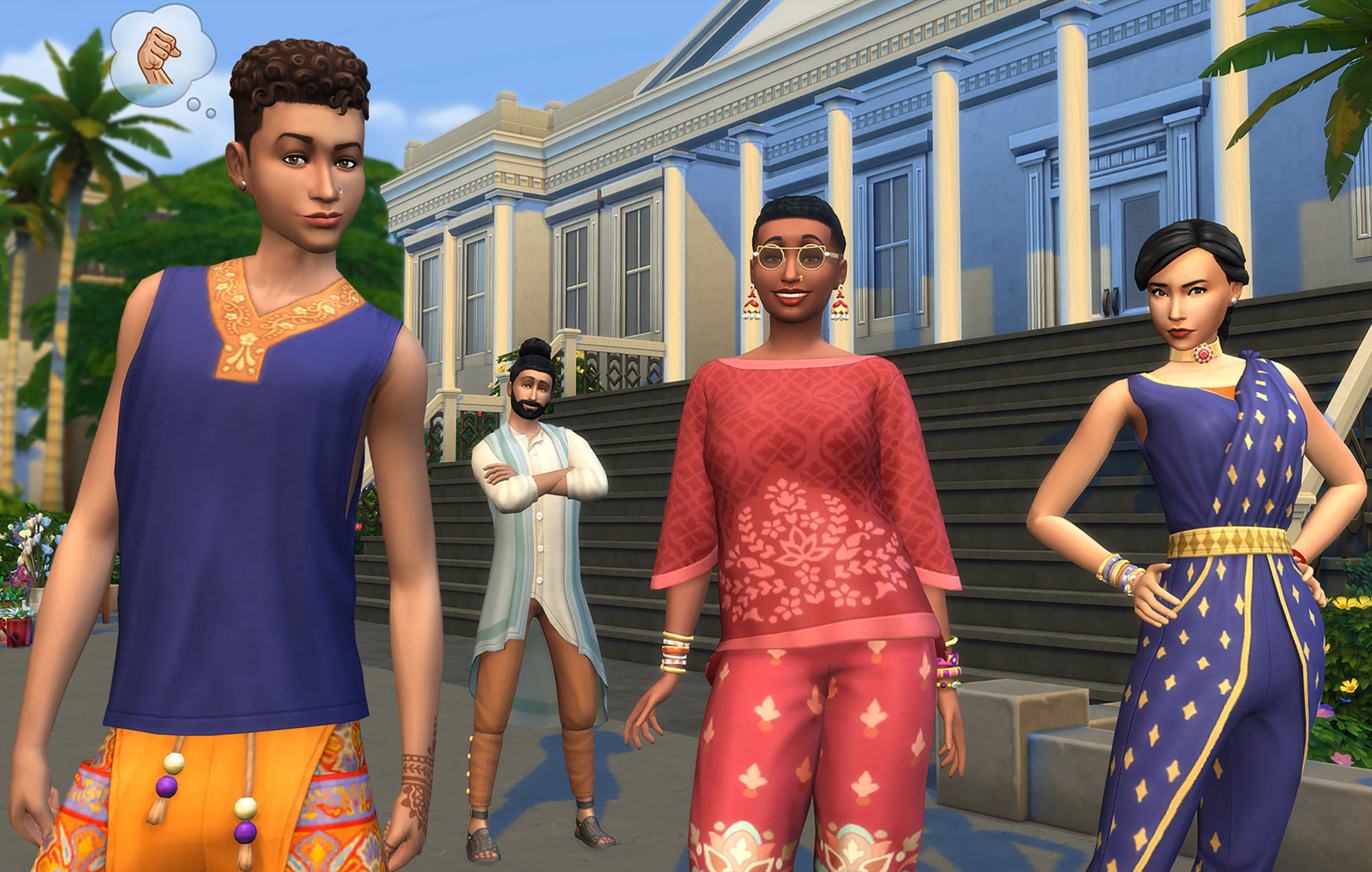 Fashion Street Kit in The Sims 4. Image credit: EA/Maxis