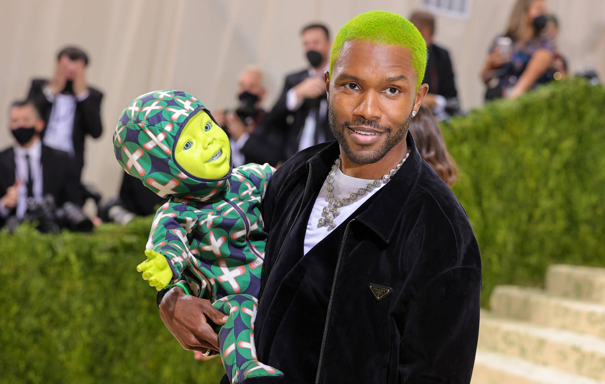 Frank Ocean brought a neon green robot baby to the Met Gala