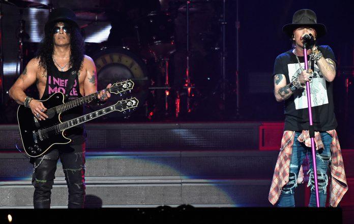 Slash (L) and Axl Rose of Guns N' Roses in 2017