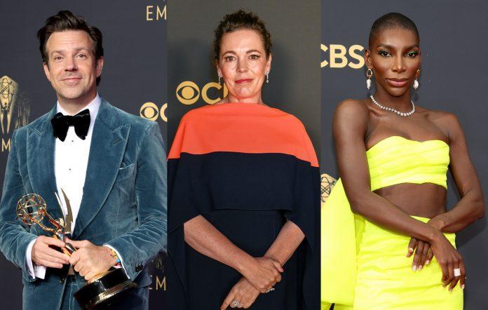 Jason Sudeikis Olivia Colman Michaela Coel Emmys 2021