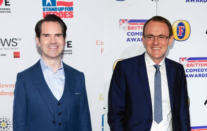 Jimmy Carr and Sean Lock