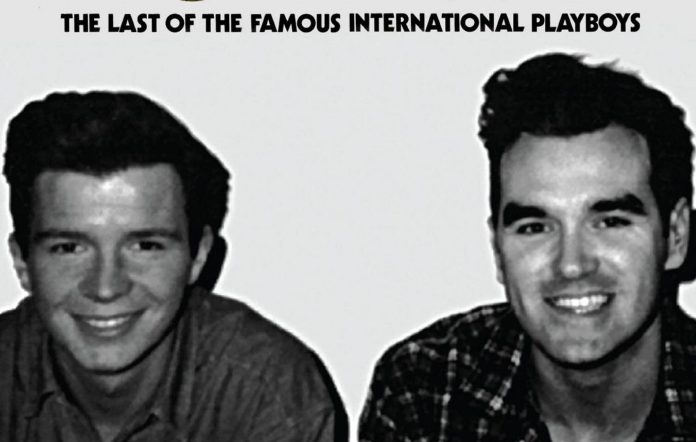 Rick Astley appearing on the cover of Morrissey's 2013 reissue of 'The Last Of The International Playboys'. Credit: Press