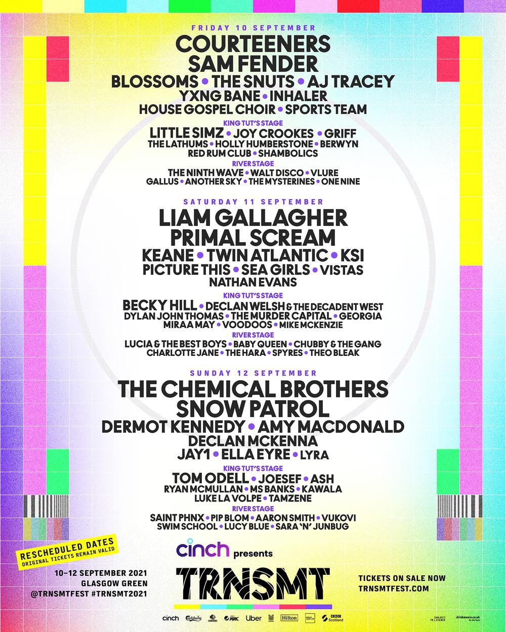 TRNSMT Festival lineup 2021