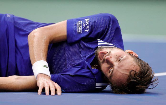 US Open tennis player Daniil Medvedev FIFA dead fish celebration