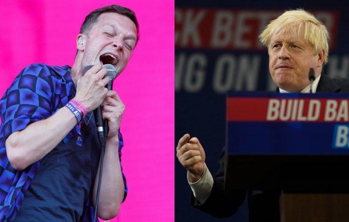 Friendly Fires frontman Ed Macfarlane and Boris Johnson
