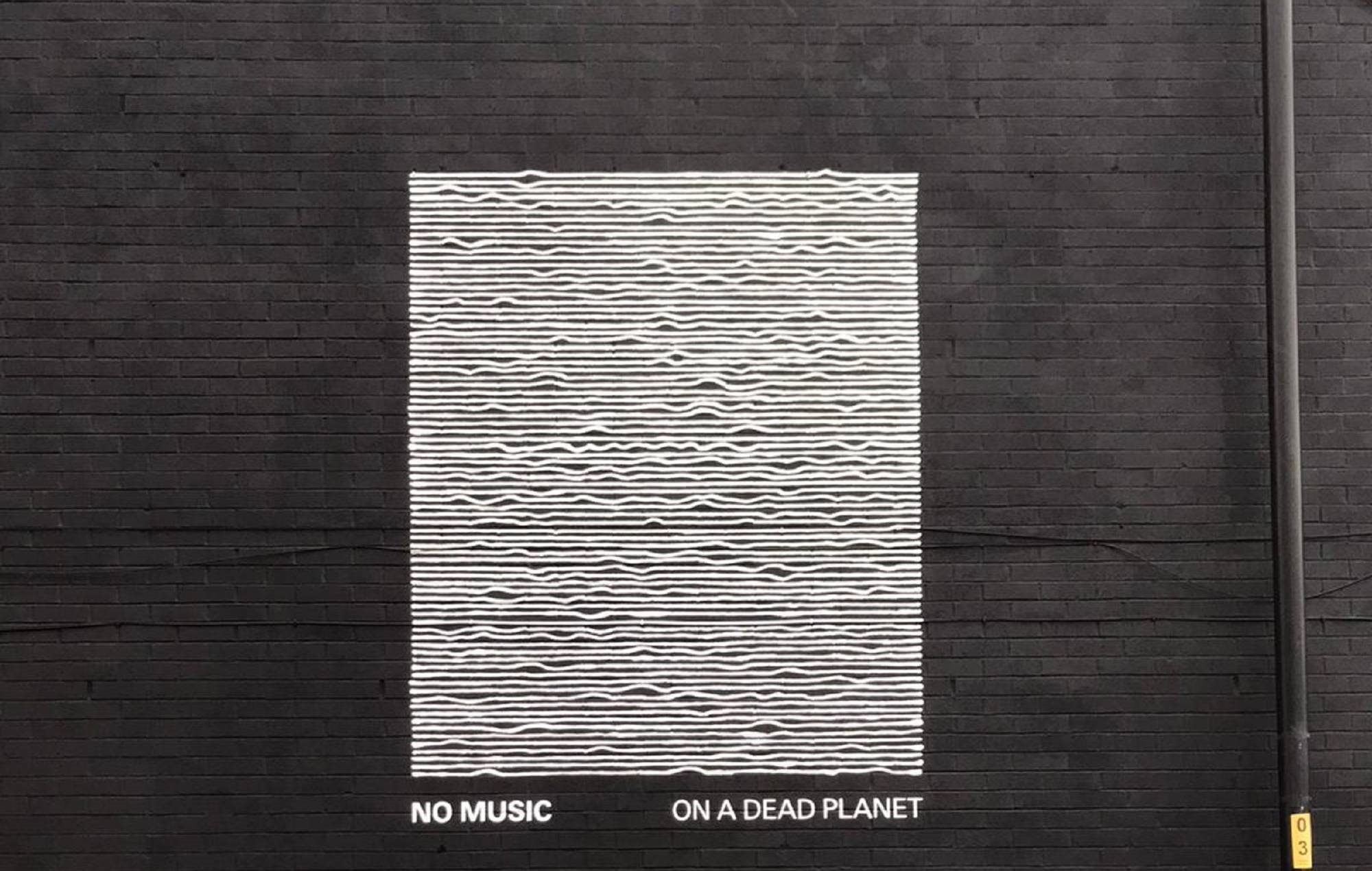 Joy Division's 'Unknown Pleasures' artwork has been turned into a climate mural