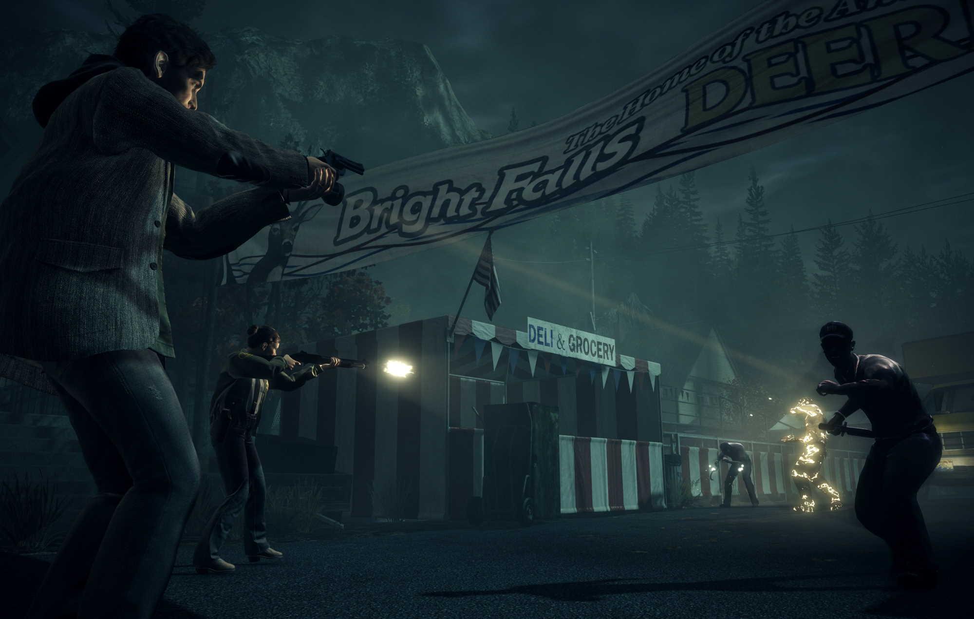 Alan Wake Remastered - Deerfest shootout