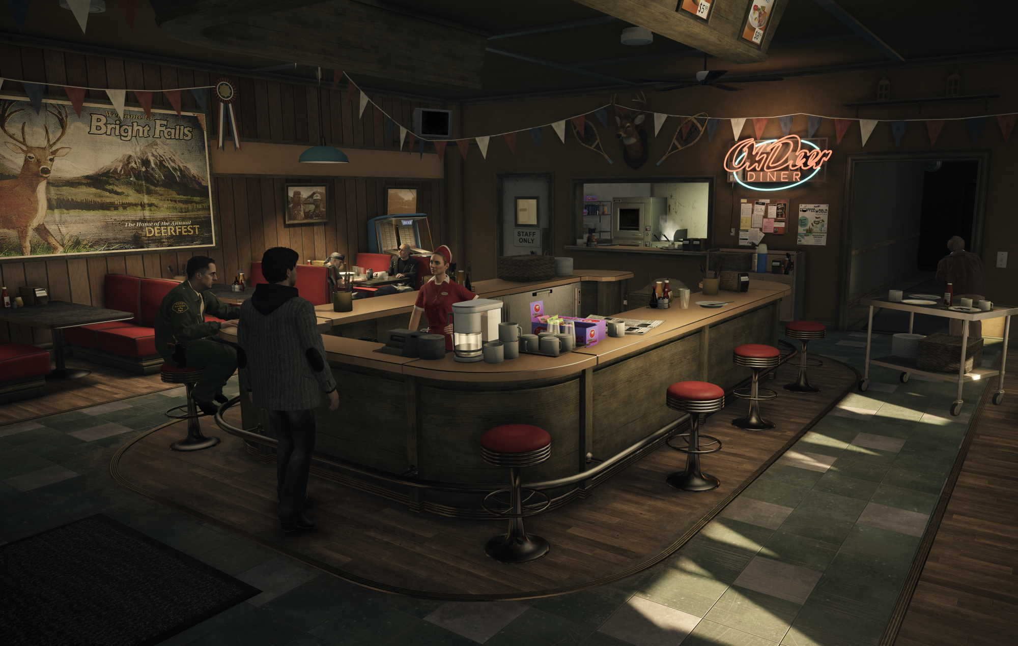 Alan Wake Remastered - arriving at the Diner