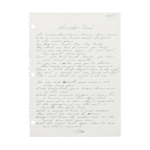 Bruce Springsteen auction