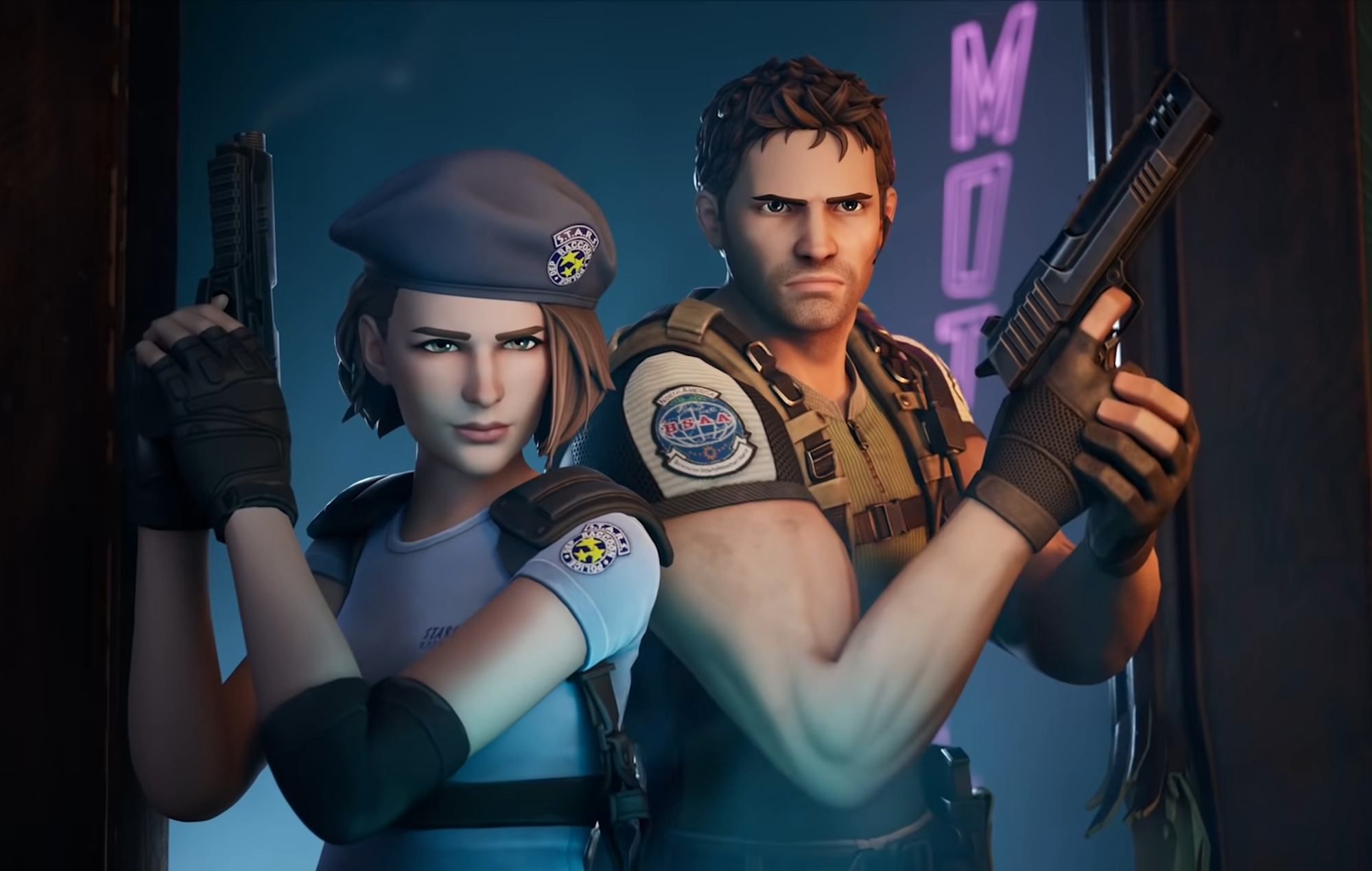 'Fortnite' adds 'Resident Evil' characters Chris Redfield and Jill Valentine - NME