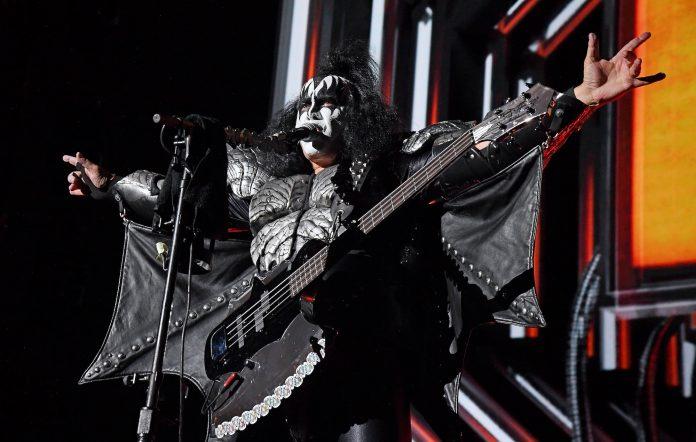 KISS' Gene Simmons performing live