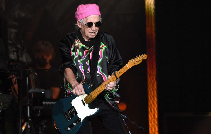 Keith Richards performs with the Rolling Stones