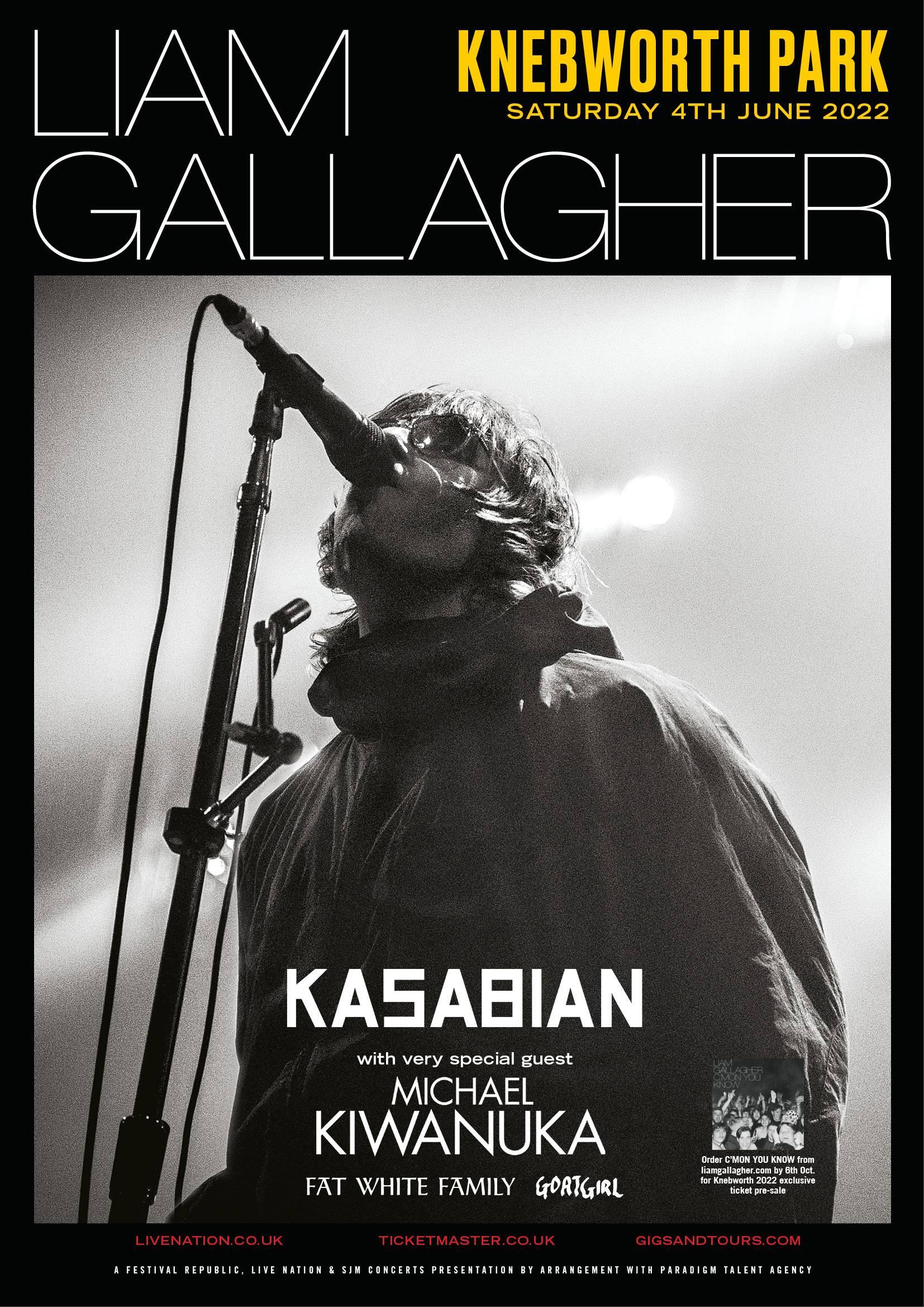 Liam Gallagher Knebworth 2022
