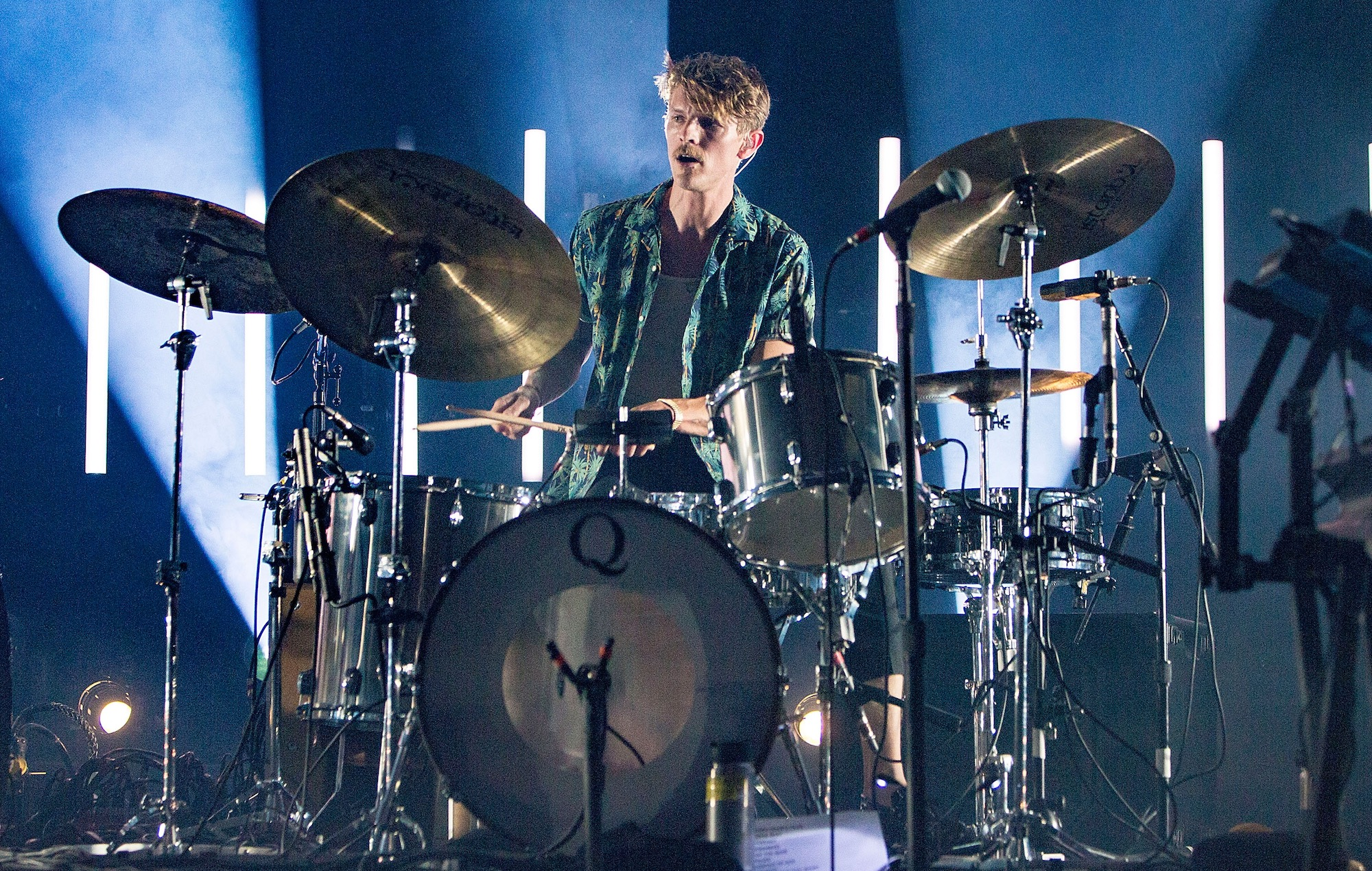 Mark Pontius performing with Foster the People