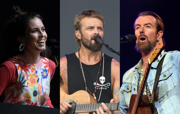 Missy Higgins (Martin Philbey/Getty Images) + Xavier Rudd (Taylor Hill/Getty Images) + Ian Kenny of Birds Of Tokyo (Martin Philbey/Getty Images)