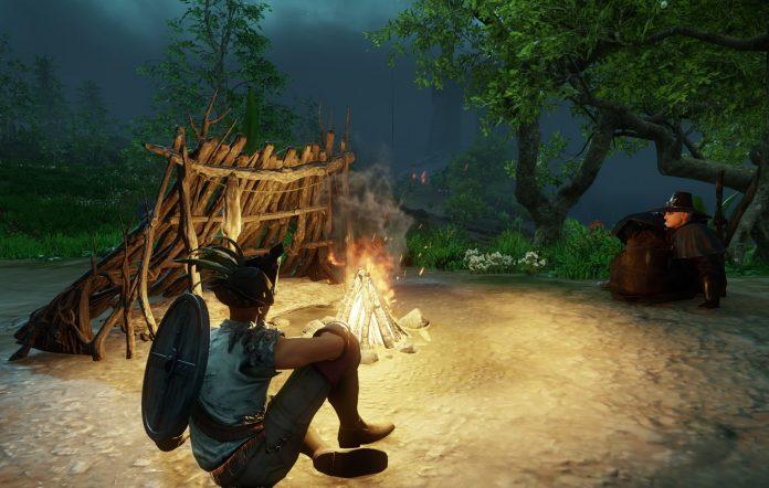 New World campfire