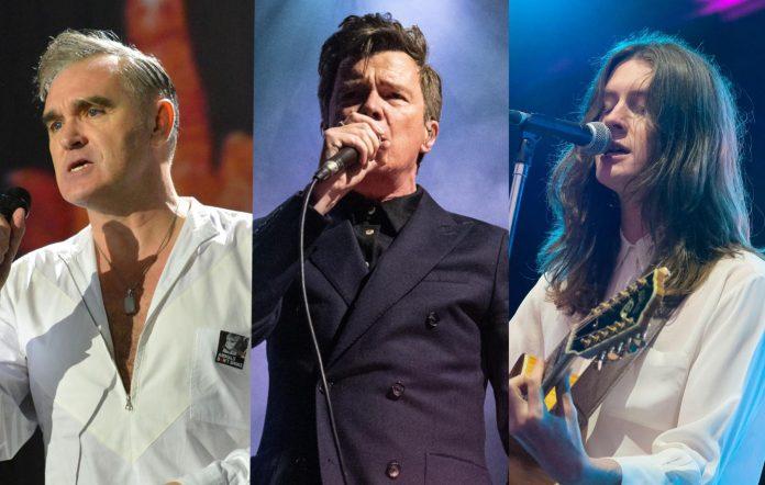 Morrissey; Rick Astley; Tom Ogden of Blossoms