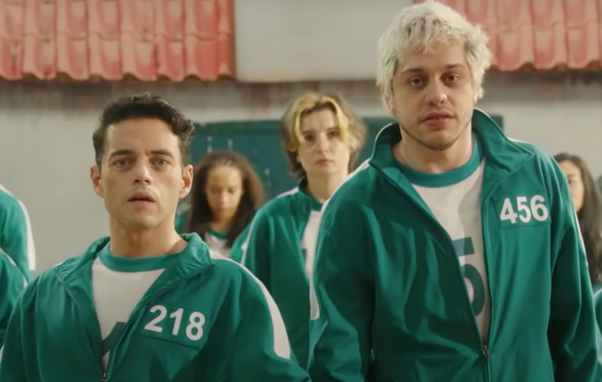 Rami Malek and Pete Davidson sing a 'Squid Game' country song on 'SNL'