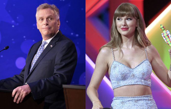 Democratic candidate for Virginia governor Terry McAuliffe and Taylor Swift