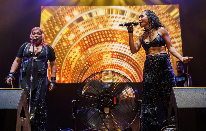 T-Boz (L) and Chilli (R) of TLC perform in 2019