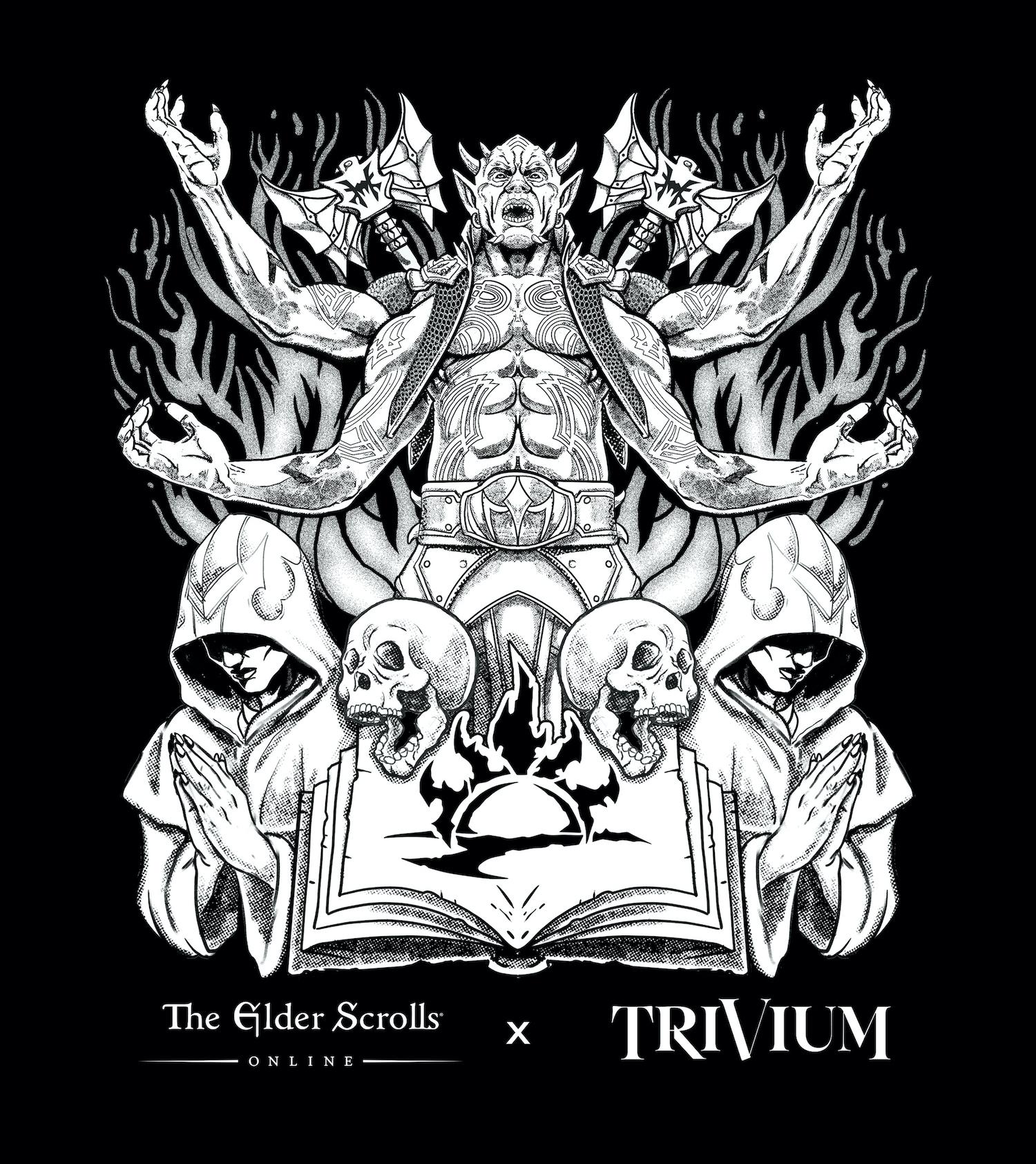 The Elder Scrolls Online x Trivium art. Credit: Bethesda